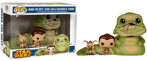 Funko POP! Star Wars Jabba the Hutt, Slave Leia & Salacious B. Crumb Exclusive Vinyl Bobble Head 3 Pack [Damaged Package]