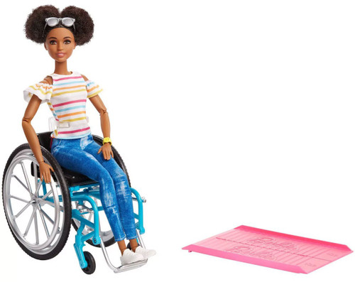 Fashionistas Barbie 13.25-Inch Doll #133 [Wheelchair & Ramp, African American]