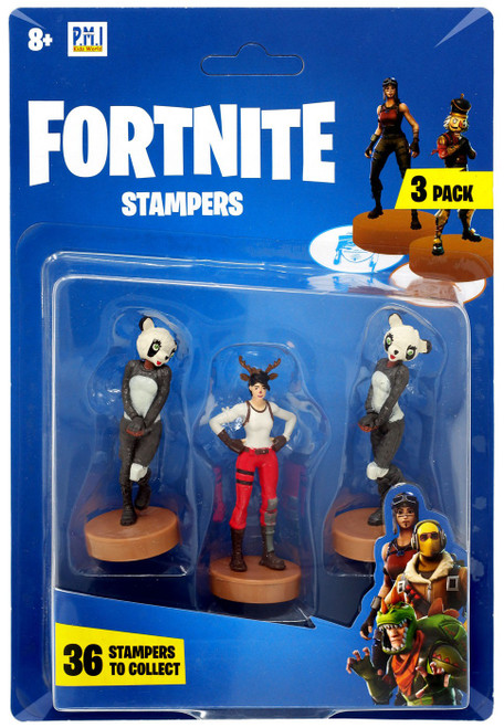 Fortnite Red Nosed Raider & P.A.N.D.A Team Leader Stamper 3-Pack