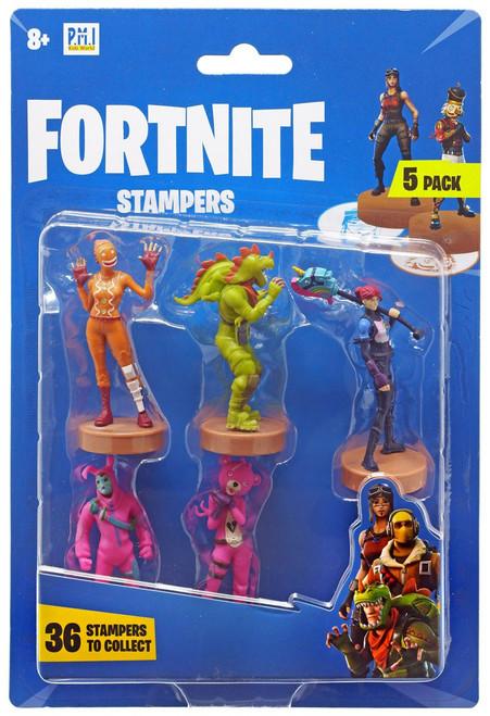 Fortnite Series 1 Ginger Gunner, Rex, Brite Bomber, Rabbit Raider & Cuddle Team Leader Stamper 5-Pack