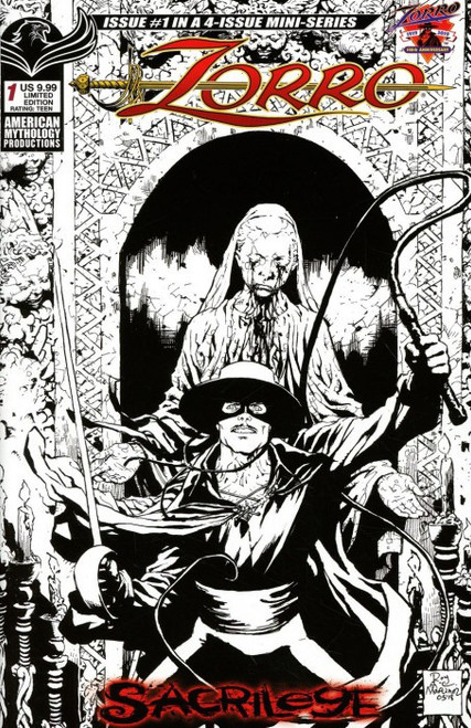 American Mythology Productions Zorro Sacrilege #1 Comic Book [Visions of Zorro Limited Cover]