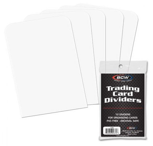 Card Supplies Trading Card Dividers [10 Count]