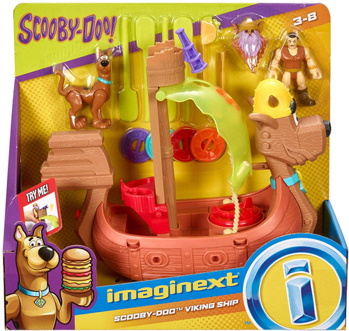 Fisher Price Scooby Doo Imaginext Scooby-Doo Viking Ship 3-Inch Figure Set