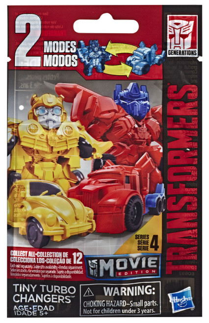 Transformers Movie Edition Tiny Turbo Changers Series 4 Mystery Pack