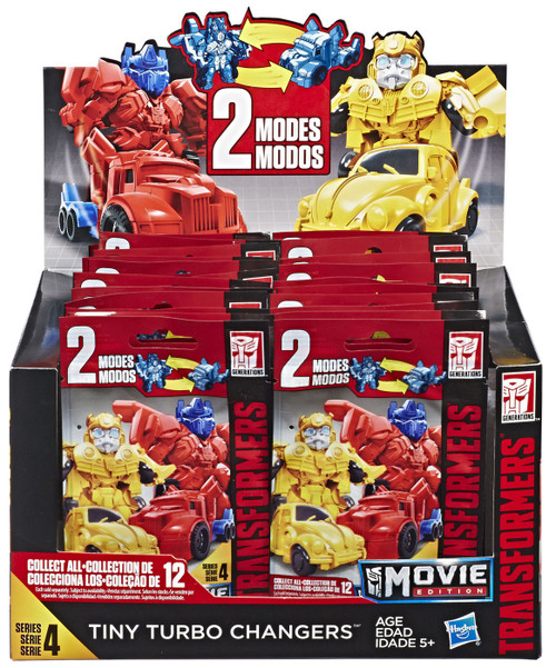 Transformers Movie Edition Tiny Turbo Changers Series 4 Mystery Box [24 Packs]
