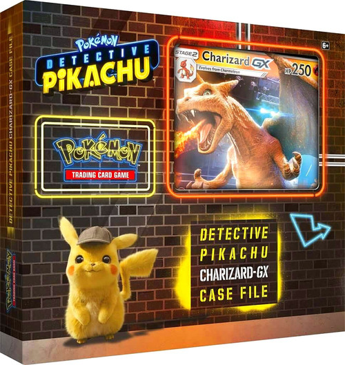 Pokemon Trading Card Game Detective Pikachu Charizard-GX Case File [6 Booster Packs, Foil Promo Card & Foil Oversize Card!]