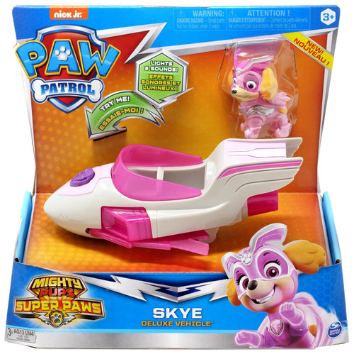 Paw Patrol Mighty Pups Super Paws Skye Vehicle & Figure