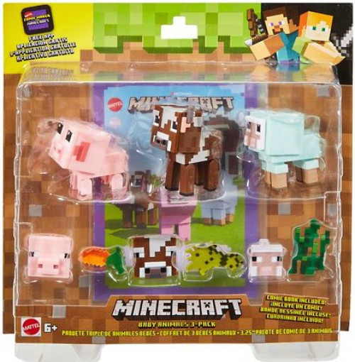 Minecraft Comic Maker Baby Animals Action Figure 3-Pack