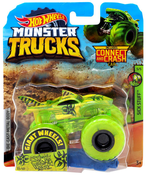 Hot Wheels Monster Trucks Sick Stuff Shark Wreak Diecast Car #5/5