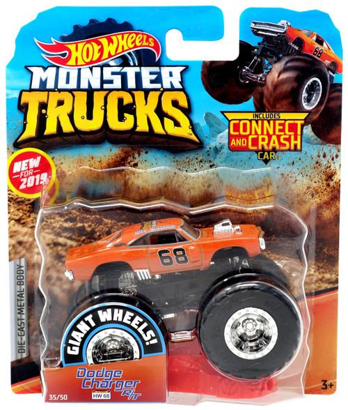Hot Wheels Monster Trucks Dodge Charger R/T Diecast Car [Orange]
