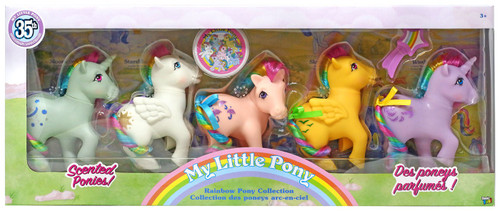 My Little Pony 35th Anniversary Rainbow Collection Scented Ponies! Rainbow Pony Collection