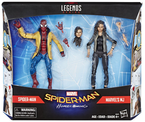 Spider-Man: Homecoming Marvel Legends Spider-Man & Marvel's MJ Exclusive Action Figure 2-Pack
