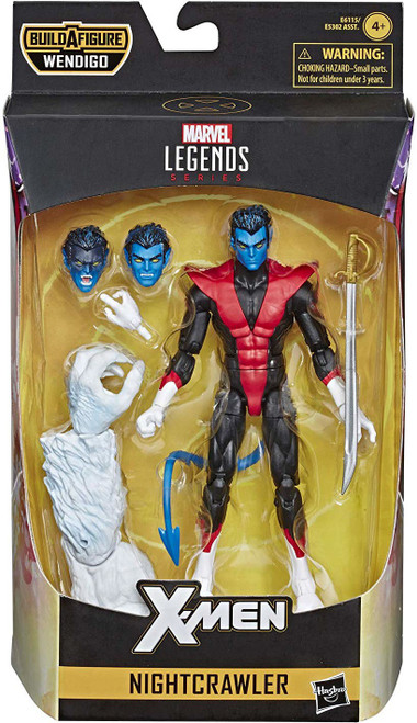 X-Force Marvel Legends Wendigo Series Nightcrawler Action Figure [Classic Costume]