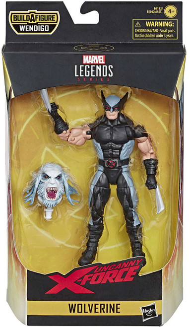 X-Force Marvel Legends Wendigo Series Wolverine Action Figure [X-Force Costume]