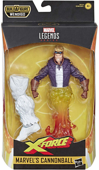 X-Force Marvel Legends Wendigo Series Cannonball Action Figure [90's Costume]