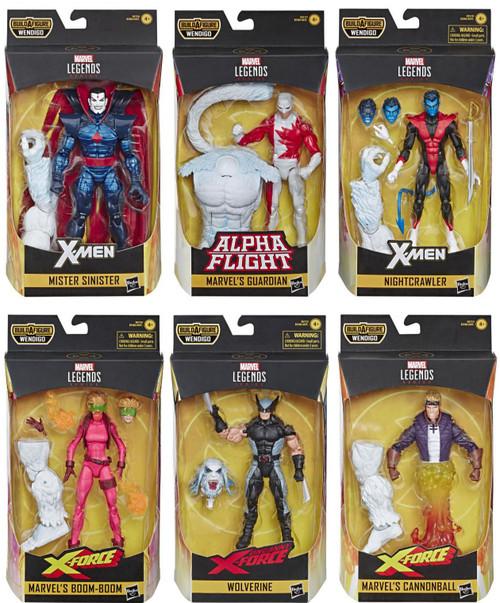 X-Force Marvel Legends Wendigo Series Set of 6 Action Figures
