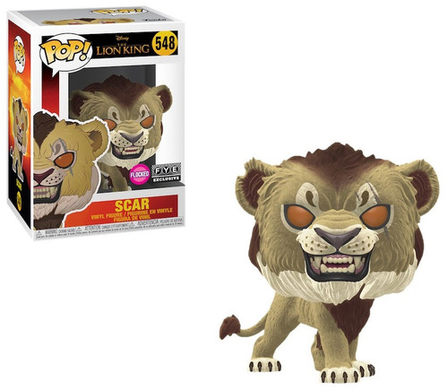 Funko The Lion King POP! Disney Scar Exclusive Vinyl Figure #548 [Live Action, Flocked]