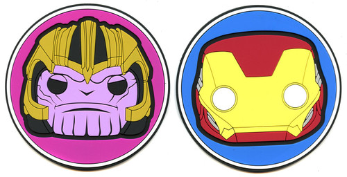 Funko Avengers Endgame Marvel Collector Corps Thanos & Iron Man Exclusive Coaster 2-Pack