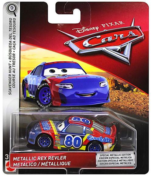 Disney / Pixar Cars 3 Scavenger Hunt Metallic Rex Revler Diecast Car