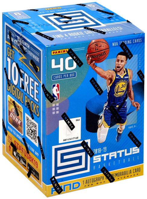 NBA Panini 2018-19 Status Basketball Trading Card BLASTER BLUE Box [8 Packs, 1 Autograph OR Memorabilia Card!]
