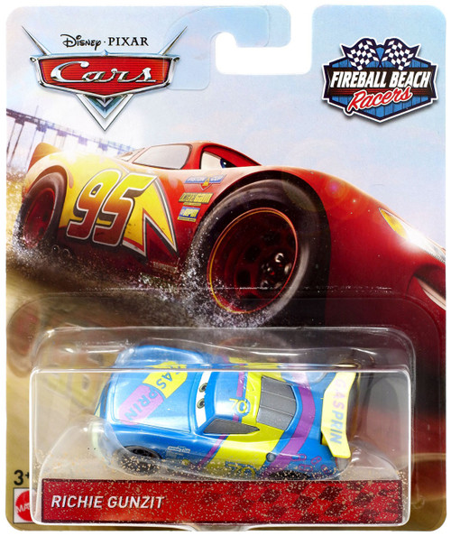 Disney / Pixar Cars Cars 3 Fireball Beach Racers Richie Gunzit Diecast Car