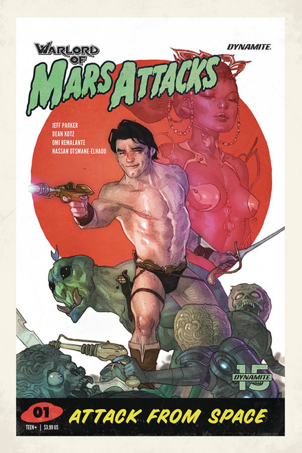 Dynamite Entertainment Warlord Of Mars Attacks #1 Comic Book [Ben Caldwell Variant Cover]