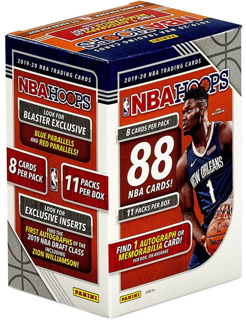 NBA Panini 2019-20 Hoops Basketball Trading Card BLASTER Box [11 Packs, 1 Autograph OR Memorabilia Card!]