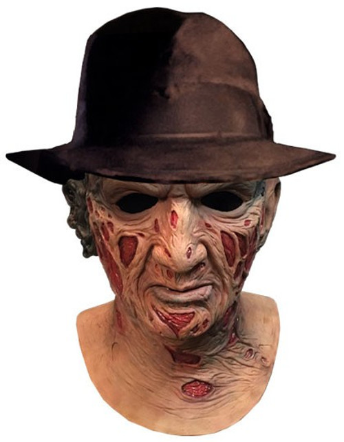 A Nightmare on Elm Street Freddy Krueger Deluxe Mask Prop Replica [Includes Fedora Hat]