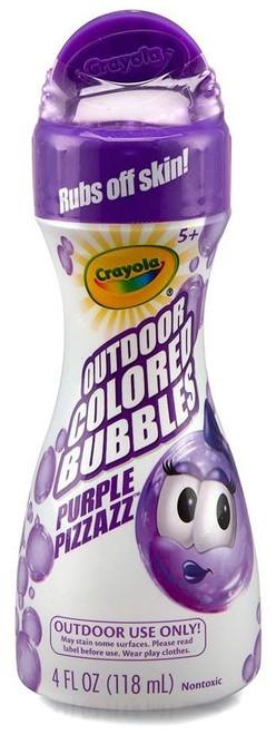 Crayola Outdoor Colored Bubbles Purple Pizzazz 4 Ounce