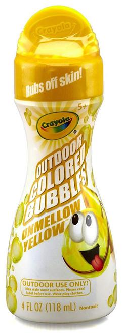 Crayola Outdoor Colored Bubbles Unmellow Yellow 4 Ounce