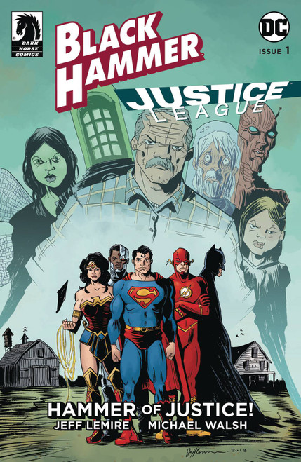 Dark Horse / DC Comics Black Hammer Justice League #1 of 5 Hammer of Justice Comic Book [Jeff Lemire Variant Cover]