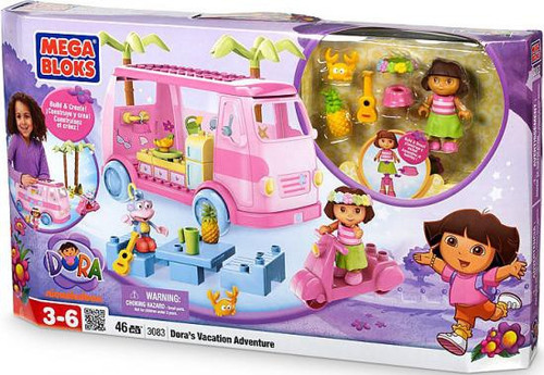 Mega Bloks Dora the Explorer Dora's Vacation Adventure Set #3083 [Damaged Package]