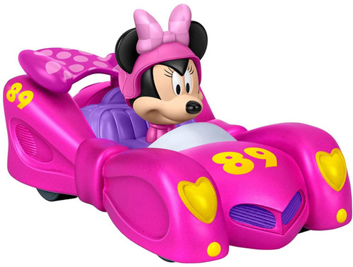 Fisher Price Disney Mickey & Roadster Racers Pull N' Go Pink Thunder Vehicle