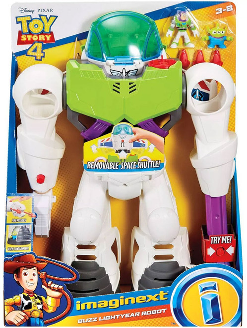 Fisher Price Disney / Pixar Imaginext Toy Story 4 Buzz Lightyear Robot Playset