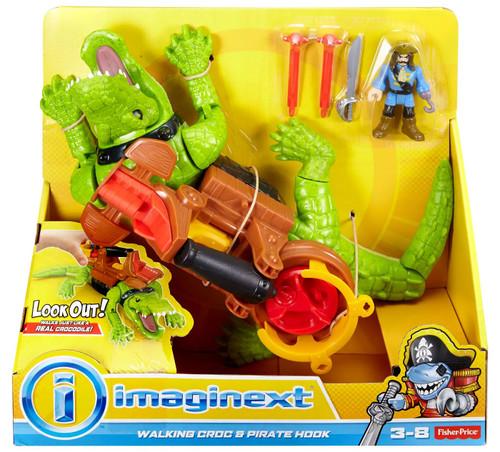 Fisher Price Imaginext Walking Croc & Pirate Hook Playset