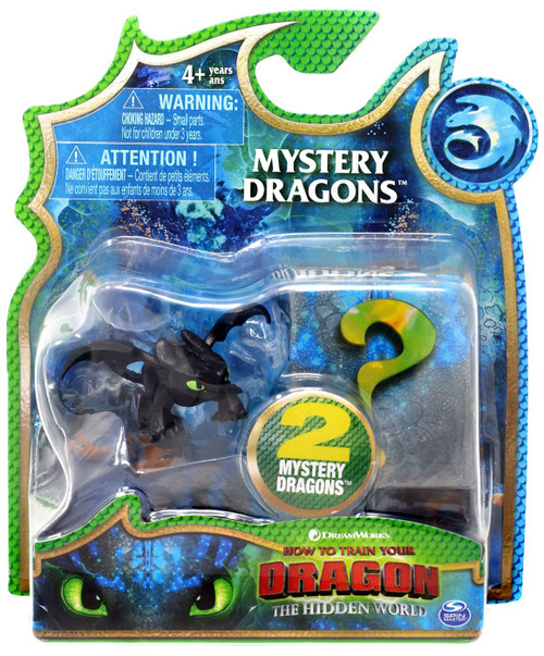 How to Train Your Dragon The Hidden World Mystery Dragons Toothless Mystery 2-Pack [Regular, Mouth Closed]