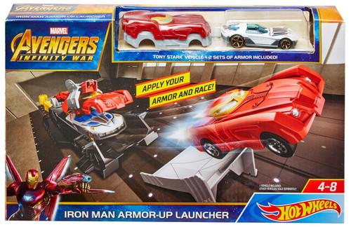 Marvel Avengers Infinity War Hot Wheels Iron Man Armor-Up Launcher