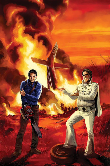 Dynamite Entertainment Army of Darkness Vs. Bubba Hotep #4 Comic Book [Diego Galindo Virgin Cover]