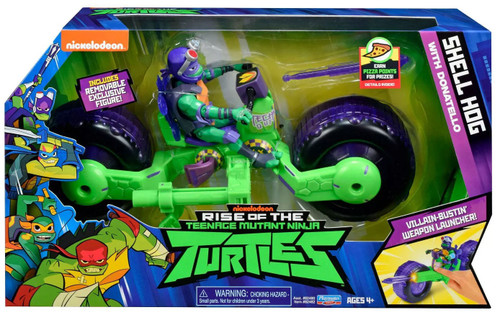 Teenage Mutant Ninja Turtles Nickelodeon Rise of the TMNT Donatello with Shell Hog Action Figure & Vehicle