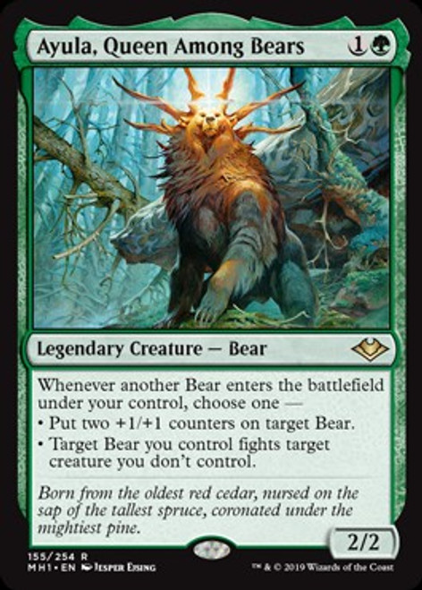 MtG Modern Horizons Rare Ayula, Queen Among Bears #155
