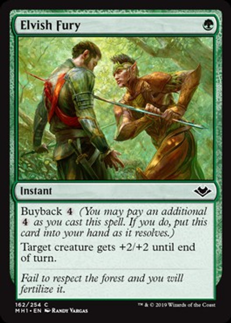 MtG Modern Horizons Common Foil Elvish Fury #162
