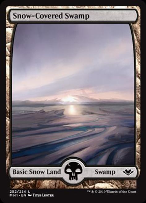 MtG Modern Horizons Land Foil Snow-Covered Swamp #252