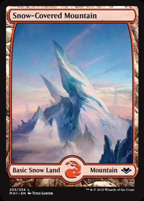 MtG Modern Horizons Land Foil Snow-Covered Mountain #253