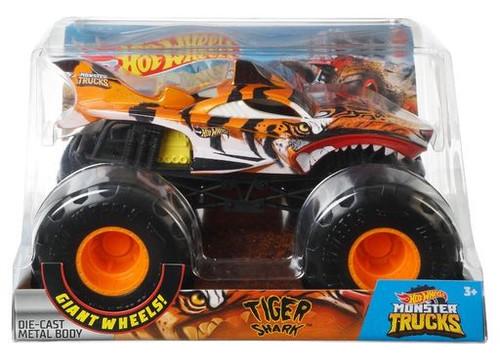 Hot Wheels Monster Trucks Tiger Shark Diecast Car [Yellow Engine]