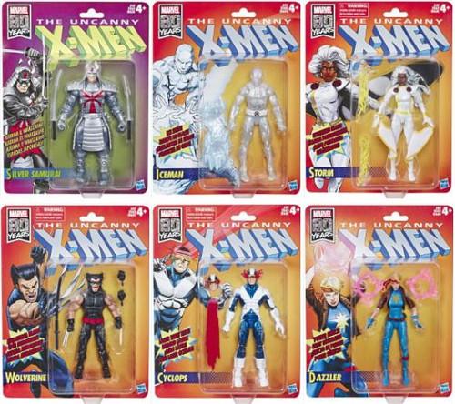 The Uncanny X-Men Marvel Legends Vintage (Retro) Series Set of 6 Action Figures