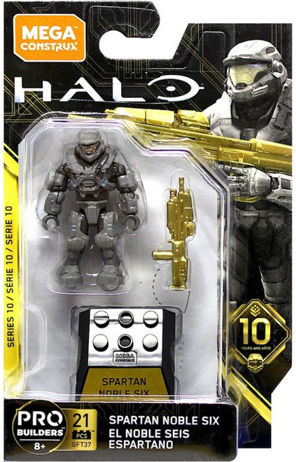 Halo Heroes Series 10 Spartan Noble Six Mini Figure