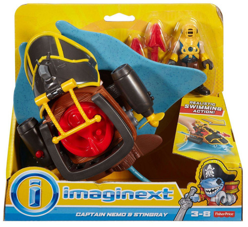 Fisher Price Imaginext Captain Nemo & Stingray Figure Set
