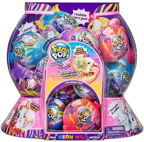 Pikmi Pops Surprise! Series 5 Bubble Drops Neon Wild Mystery Box [12 Packs]