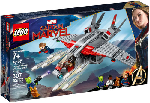 LEGO Captain Marvel & The Skrull Attack Exclusive Set #76127 [Damaged Package]