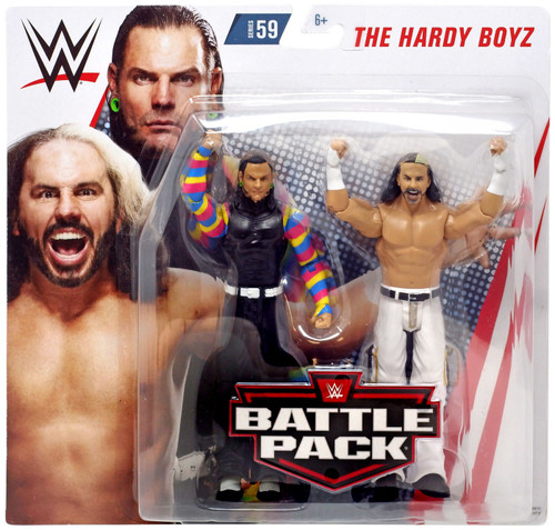WWE Wrestling Battle Pack Series 59 Matt & Jeff Hardy Action Figure 2-Pack